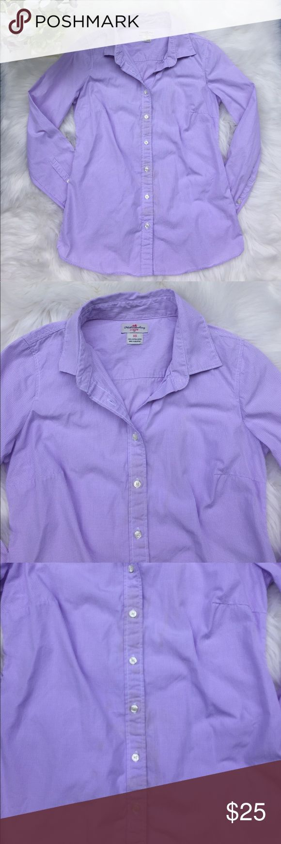 J. Crew  Haberdashery Button Up Shirt  Size XS ▪️J. Crew ▪️EUC ▪️Easily dressed up or down, this top will get you from the office to a night out without missing a beat. Light purple and white checker ▪️Measurements: Length approx. 25 inches, armpit to armpit is approx. 17 ½  inches, sleeves approx. 23 inches ▪️Size XS J. Crew Tops Button Down Shirts