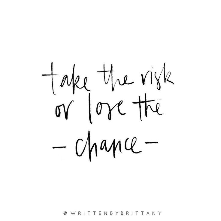 Take the risk or lose the chance - it's your choice! | Hand Lettered Quotes | Calligrahy Quotes | Quote of the day | Brush Lettering | Hand Lettering | Lettering Quotes | Modern Calligraphy | Written (Beauty Soul Quotes)