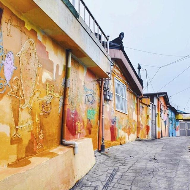 Looking back to last weekend in Ulsan. One of our favorite places was the Shinhwa Mural Village. 📍Ulsan, South Korea _______________________________________ #koreatravel #imagineyourkorea #korea🇰🇷 #southkorea🇰🇷 #travelkorea #travelinggram #ulsan #hyundaihotelulsan