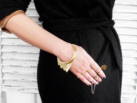 Knuckle Ring Stacking Rings. Ultra Thin Geometric by LakaLuka