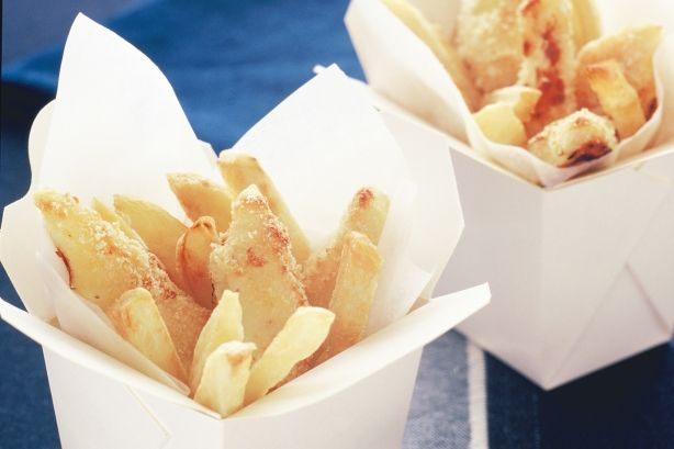 Kids will love these fish and chips and the fact that they're baked, not fried, makes them healthier than usual.