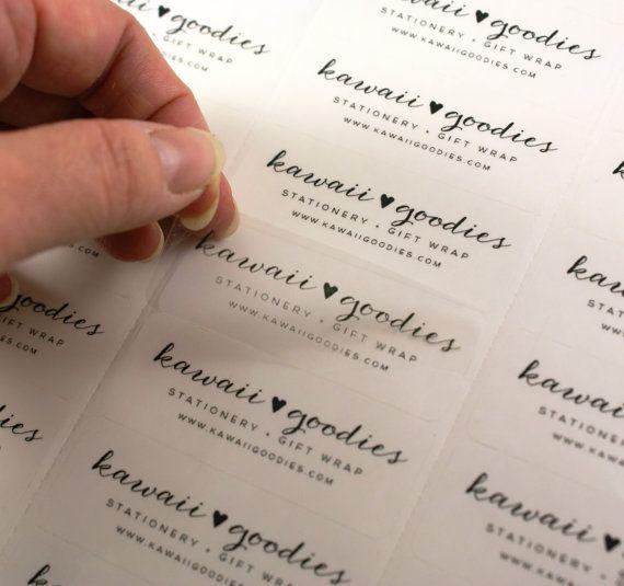 Custom print CLEAR address labels  2 5/8 x 1 by kawaiigoodies