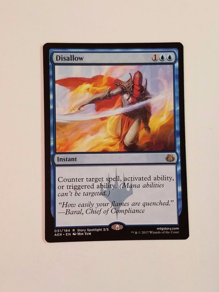 MTG Magic Aether Revolt 1x Card Disallow Blue Counter Spell Instant #WizardsoftheCoast