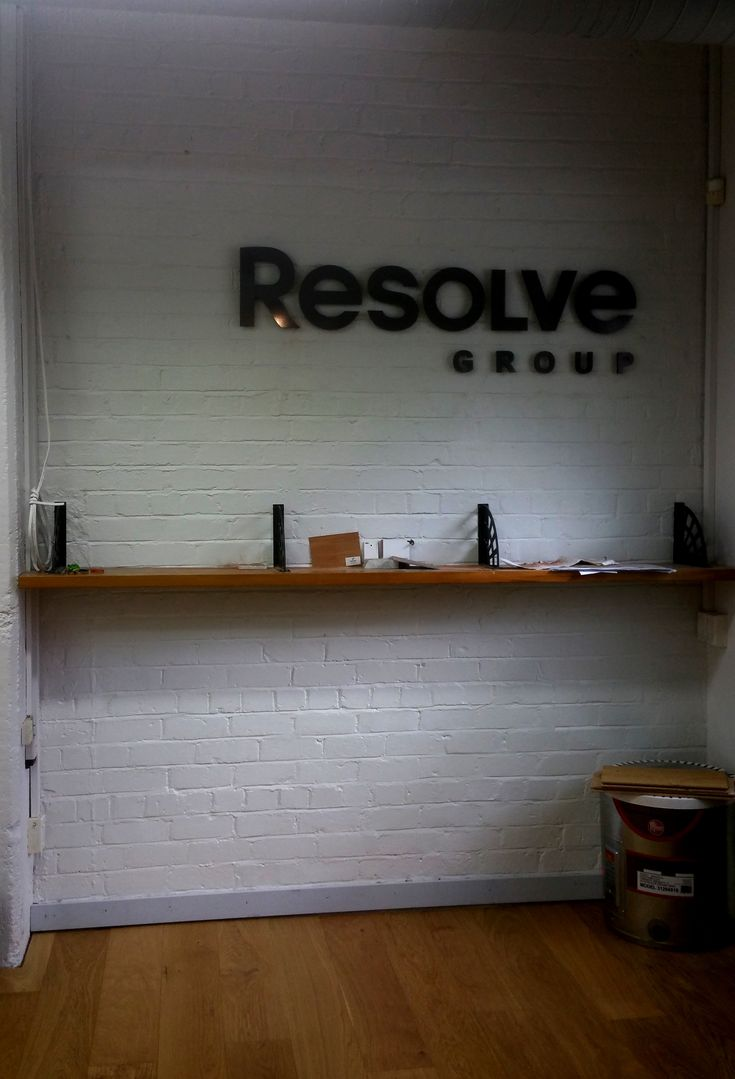 Wall sign for Resolve by Speedy Signs Newton