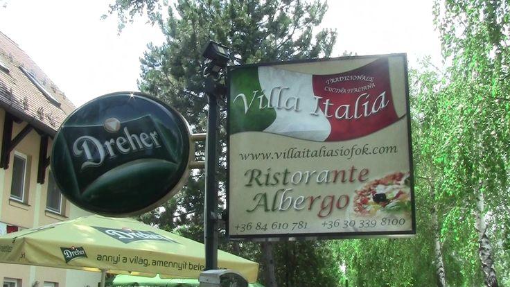 Villa Italia das italienische Restaurant direkt neben dem Strand in Siófok. Über dem Restaurant befindet sich auch eine kleine Pension mit Apartments für 2 - 4 Personen.