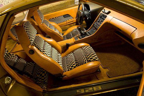 vintage Porsche 928 interior