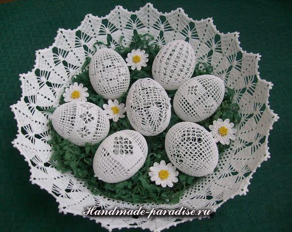 Всех рукодельниц, которых интересует handmade к Пасхе, приглашаю к просмотру красивых идей для украшения праздничного интерьера и создания ажурных пасхальных яиц.   Очень красивую декоративную компози…