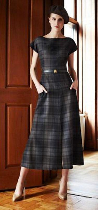 classy plaid dress