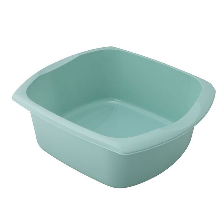 Addis Plastic Large Rectangular Duck Egg Blue Washing Up Sink Bowl Basin