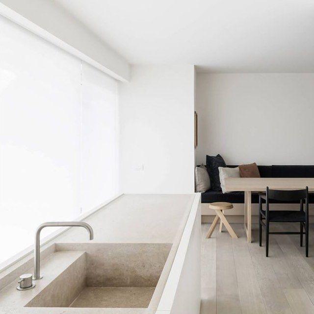 Recessed tap; inset sink: DRD Apartment Kitchen by @vincentvanduysen