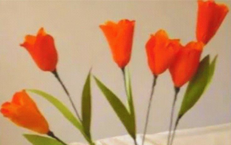 How to make paper flower - tulips