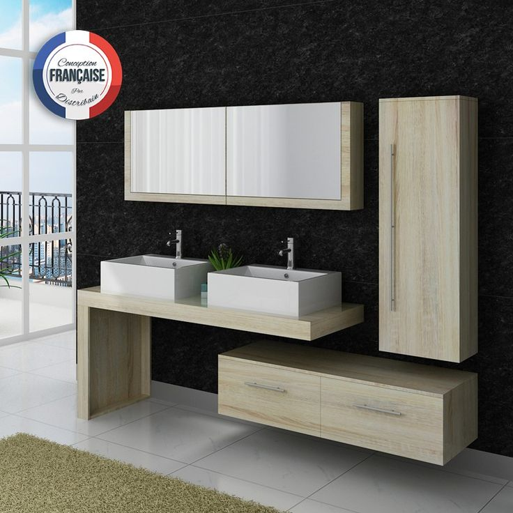 17 meilleures id es propos de meuble double vasque sur. Black Bedroom Furniture Sets. Home Design Ideas