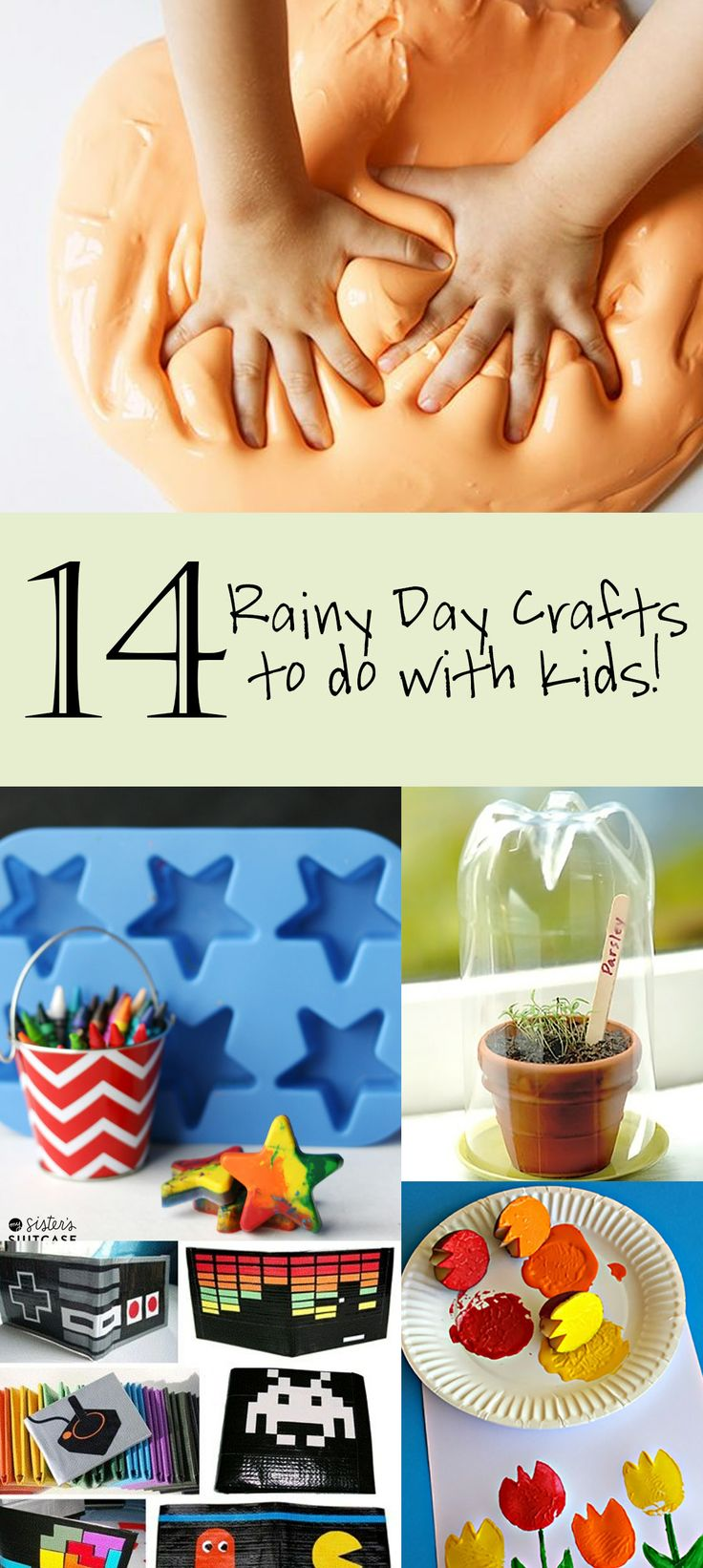 14 Rainy Day Crafts to do with Kids!