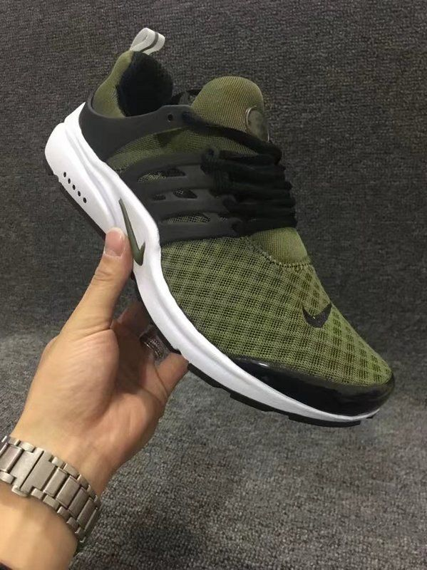 2018 Original Mens Nike Air Presto Br Army Green White Green Nike Shoes Nike Air Presto Mens Nike Shoes