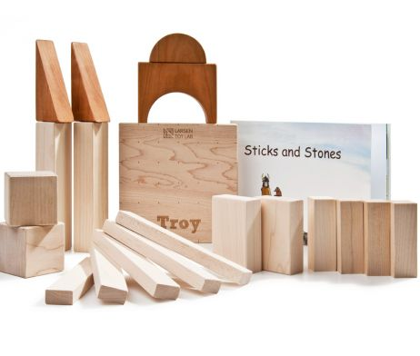 STICKS AND STONES (20 PIECES) BY LARSEN TOY LAB
