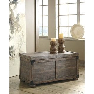 Shop for Signature Design by Ashley Vennilux Gray/Brown Storage Cocktail Table. Get free shipping at Overstock.com - Your Online Furniture Outlet Store! Get 5% in rewards with Club O! - 17811521