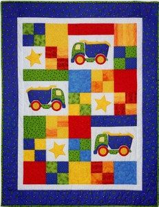 Toy Trucks Baby Child Quilt Pattern by the Country Quilter