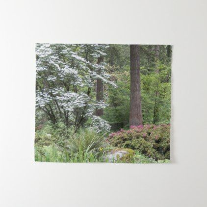 Forest Garden Photo Tapestry - photography gifts diy custom unique special