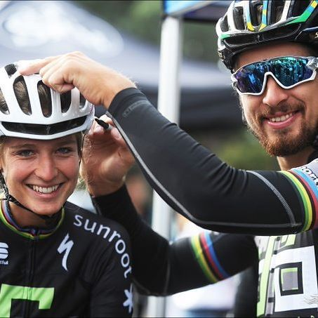 When you're married to the World Champion Peter Sagan it's always fun! by veloimages