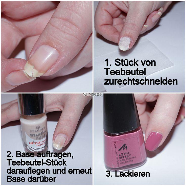 Einen eingerissenen Nagel muss man nicht unbedingt sofort kürzen. Mir ist meiner vor 3 Tagen sehr fies eingerissen und mit dieser Methode hält es bisher sehr gut. :)  http://winzieee.de/2014/02/einen-eingerissenen-nagel-reparieren/