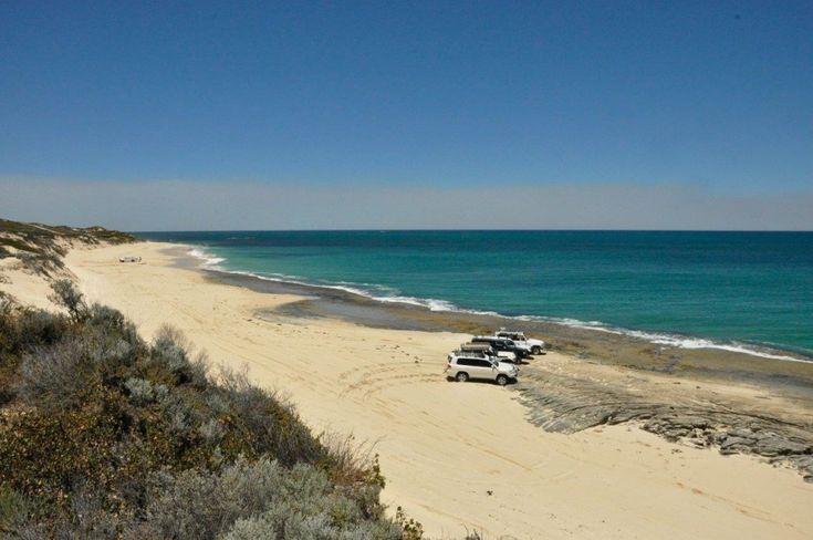 Two rocks beach, WA. Life's good with a 4WD!