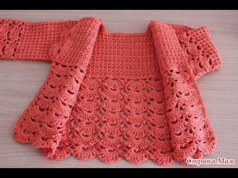 Jacket Crochet Baby - step by ste - جاكيت كروشيه بيبي خطوه بخطوه - YouTube