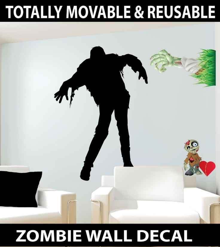 Zombie silhouette Wall Stickers - Totally Movable, $8.95 (http://www.wholesaleprinters.com.au/zombie-silhouette-wall-stickers-totally-movable)