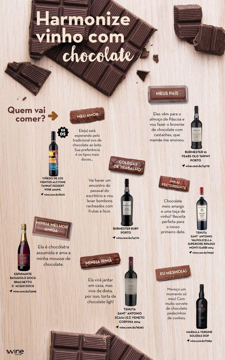 Quer aproveitar a Páscoa ao lado de um bom vinho? Damos a dica das harmonizações ideais para você, com chocolate! ;) #wine #vinho #chocolate #pascoa