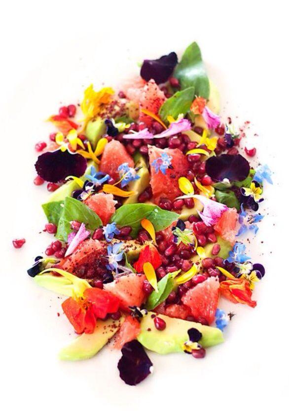 Fruit & flower salad