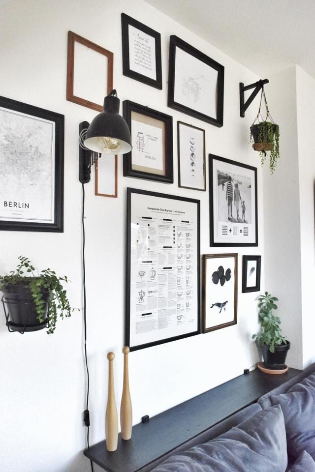 exceptional einfache dekoration und mobel interview mit oliver schick #1: Gallery Wall über dem Sofa u2013 funktioniert mit den verschiedensten  Rahmentypen und Bildern. Mehr Inspiration
