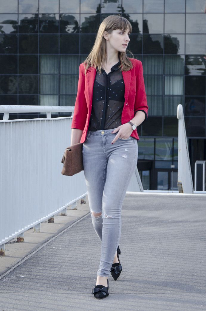 Red jacket!