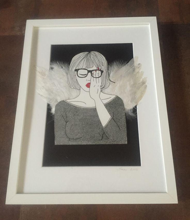 Paint / angel / women / wings