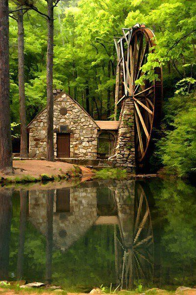 Stone Cottage Interiors Stone Cottage And Waterwheel On River All Things Home Pinterest