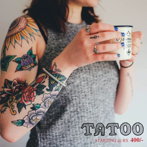 Get A Quality & Artistic Body Art & Tattoo To Define Yourself With Your Unique Style!! Get it Done By Professional Tattoo Artists at ShopIN deal !! Offer: http://shopindeal.com/ProductDetail/-Get-various-tattoo-designs-and-patterns-to-match-your-choice-INR-400-Only-/113/Samrat-Style-StudioAkurdi