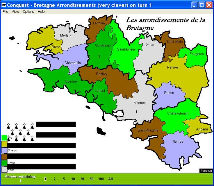 les arrondissements de bretagne