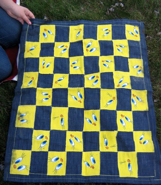 The Wicked jypsi: Homemade Outdoor Game Mats: Hopscotch & Checkers & a Picnic Blanket in a bag....