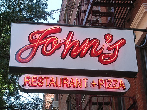 John's on 12th in NYC (302 East 12th Street)...as seen on Drivers, Drive-ins, & Dives!!    Must try: Veal meatballs & Tuscan Ragu over Homemade Pappardelle