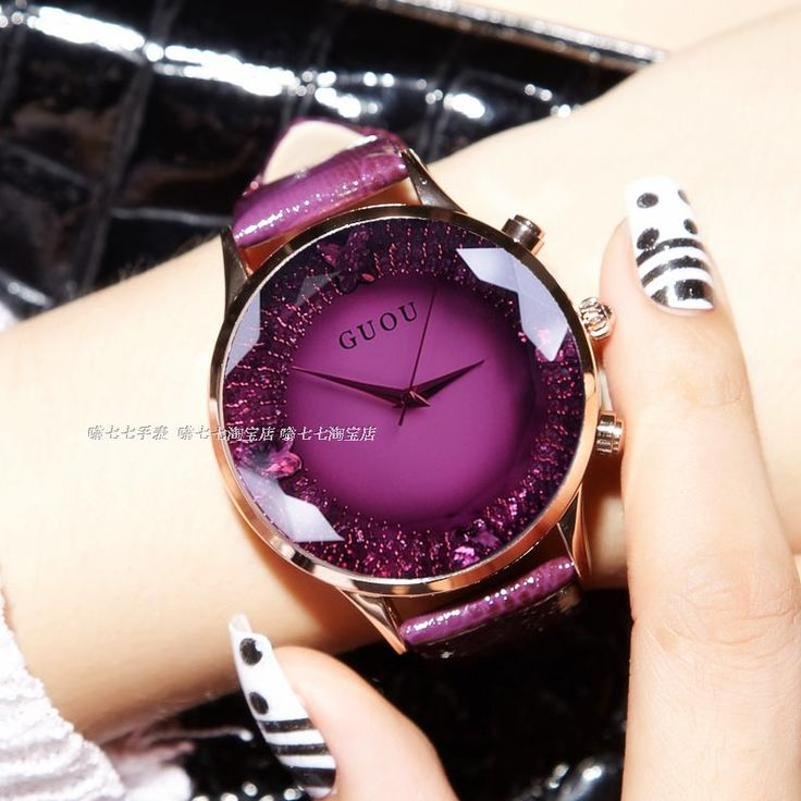 Quartz Lady Watch Rhinestone Waterproof Women's Watch Genuine Leather Upscale Large Dial Luxury Gift Wristwatches - free shipping worldwide