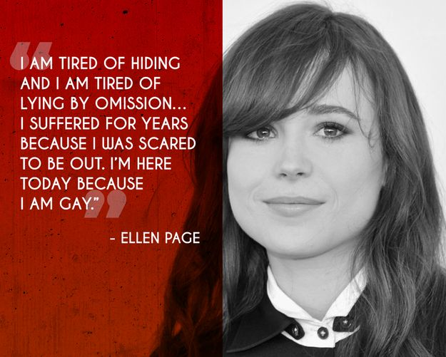 Ellen Page| 17 Honest Quotes From Celebrities On Coming Out Of The Closet