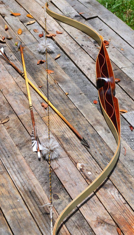 Archery Bow Vintage Unique recurve bow unknown by PodunkHollow