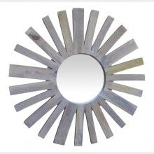 Sun mirror made out of timber, perfect for gallery wall