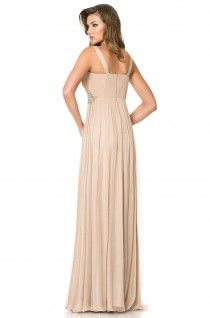 Be charming. Be unique. Nude long elegant dress for exquisite events.