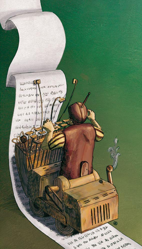 """Jose Rosero illustration for """"El Significado de los Suenos""""."""