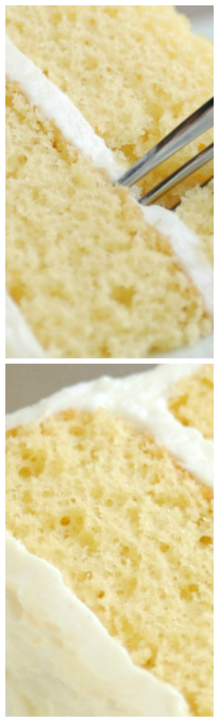 Vanilla Crazy Cake ~  Also known as Wacky Cake or Depression Cake, doesn't need dairy or eggs to make them. In fact, you don't even need to get a separate bowl dirty – you can make it right in the pan!