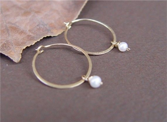 Small Gold Hoops Birthstone Earrings Small Gold by ravitschwartz