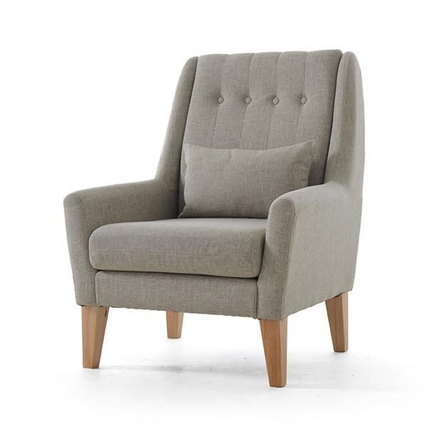 Upholstery Furniture Legs Wood Finish Linen Cotton Fabric Sofa Armchair