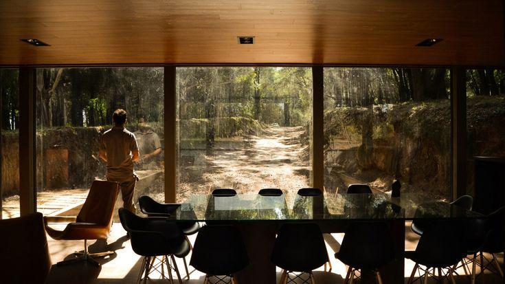 Во все стороны изнутри дома открывается великолепный вид. .