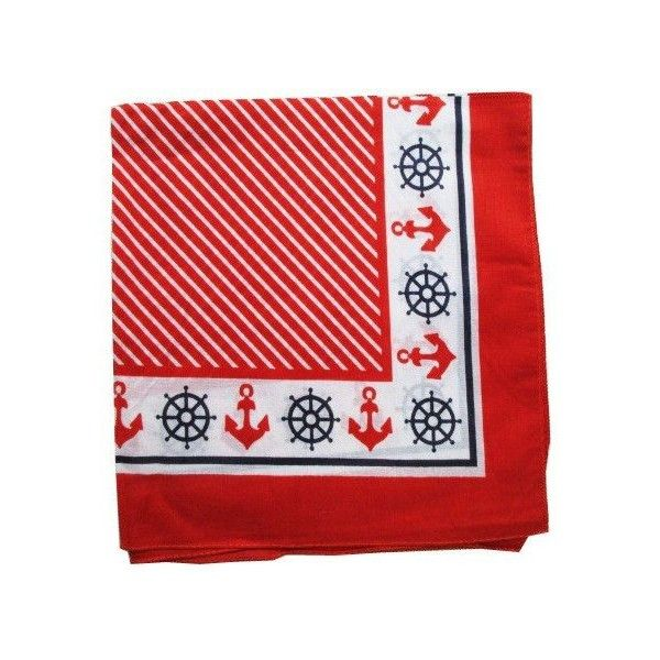 "Nautical Anchor Prints Bandanas, 20""x20"" Small Square ❤ liked on Polyvore featuring accessories, scarves, summer scarves, navy blue bandana, navy bandana, nautical scarves and anchor scarves"