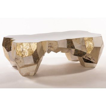 Zoe Coffee Table In Mother Of Pearl And Gold