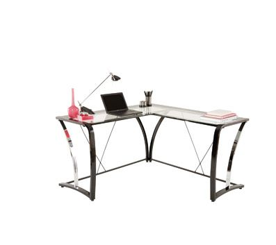 Brenton Studio Evanti Collection Glass L Desk